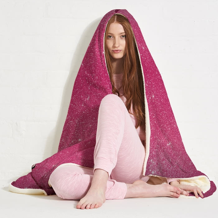 ClaireaBella Glitter Effect Hooded Blanket - Image 5