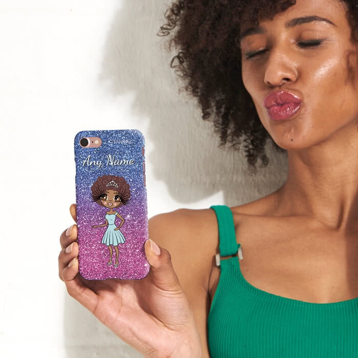 ClaireaBella Personalised Ombre Glitter Effect Phone Case - Image 3