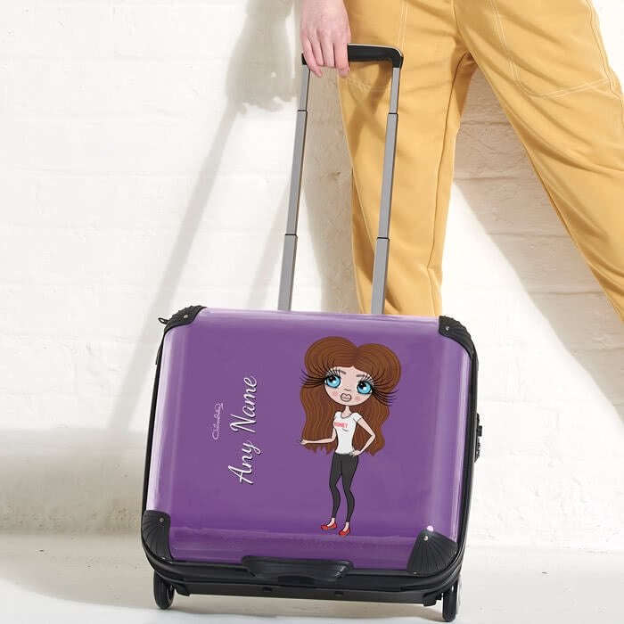ClaireaBella Purple Weekend Suitcase - Image 1