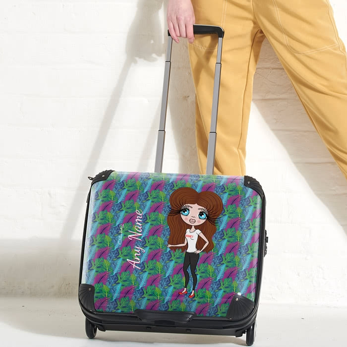 ClaireaBella Neon Leaf Weekend Suitcase - Image 2