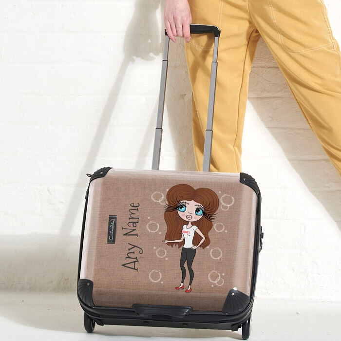 ClaireaBella Jute Print Weekend Suitcase - Image 1