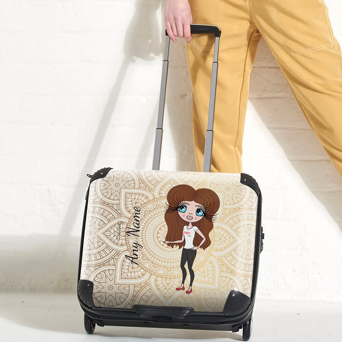 ClaireaBella Golden Lace Weekend Suitcase - Image 1