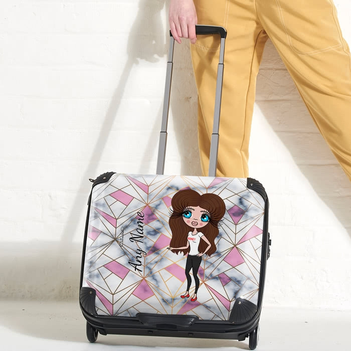 ClaireaBella Geo Print Weekend Suitcase - Image 1