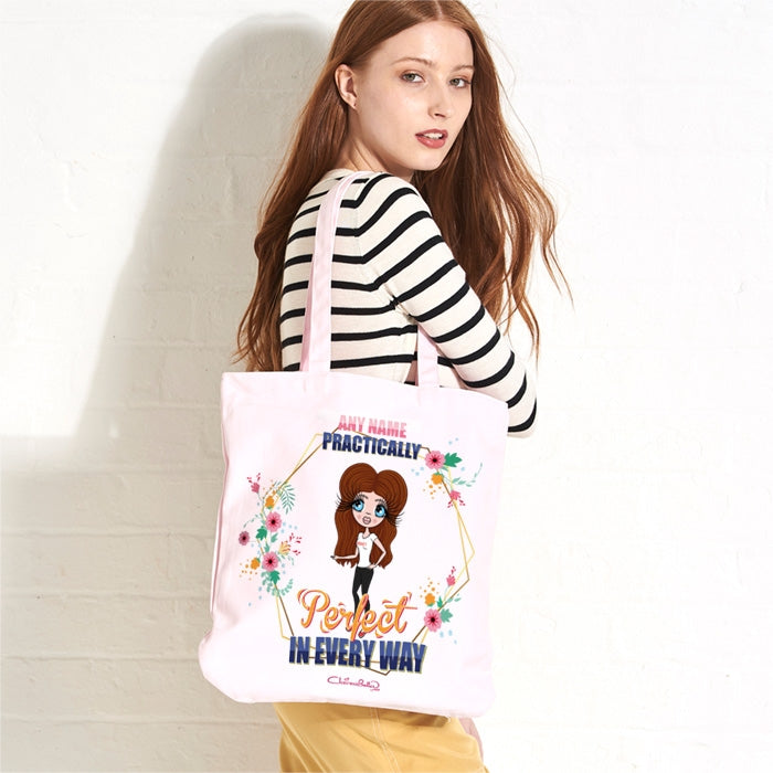 ClaireaBella Practically Perfect Pastel Canvas Shopper - Image 1