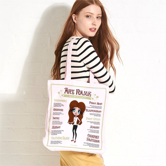 ClaireaBella Wine Pastel Canvas Shopper - Image 1