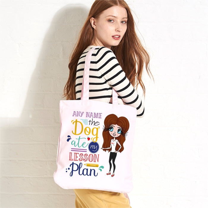 ClaireaBella Dog Pastel Canvas Shopper - Image 1