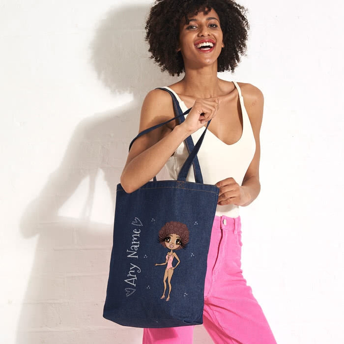 ClaireaBella Bikini Denim Canvas Bag - Image 5