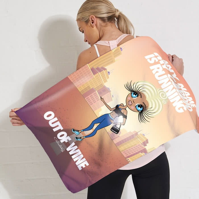 ClaireaBella Running Out Of Wine Gym Towel - Image 1