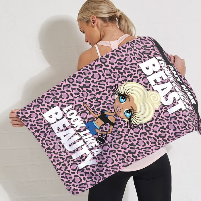 ClaireaBella Train Like A Beast Gym Towel - Image 1