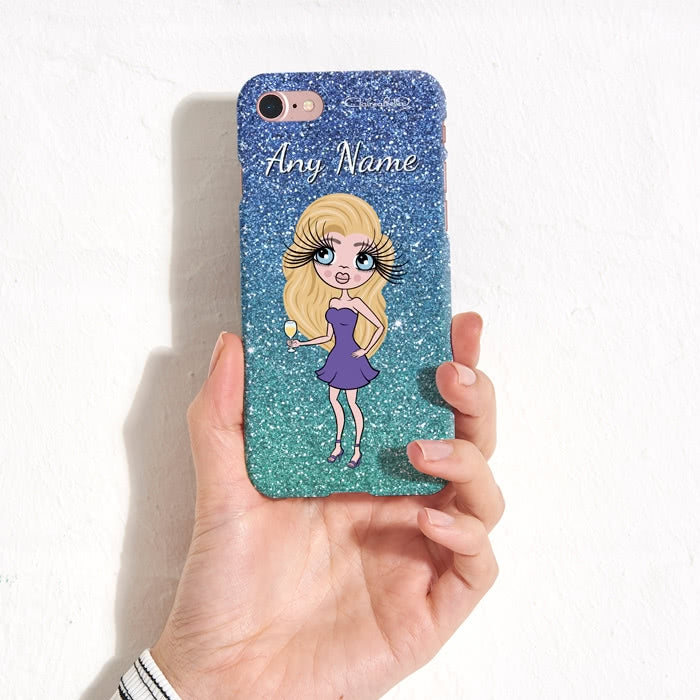 ClaireaBella Personalised Ombre Glitter Effect Phone Case - Image 5