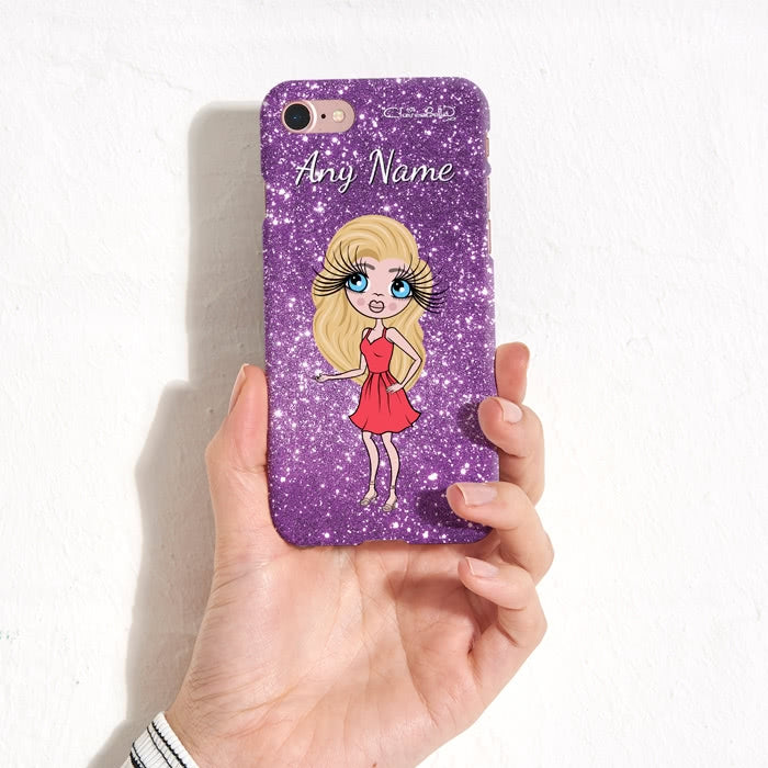 ClaireaBella Personalised Glitter Effect Phone Case - Image 4