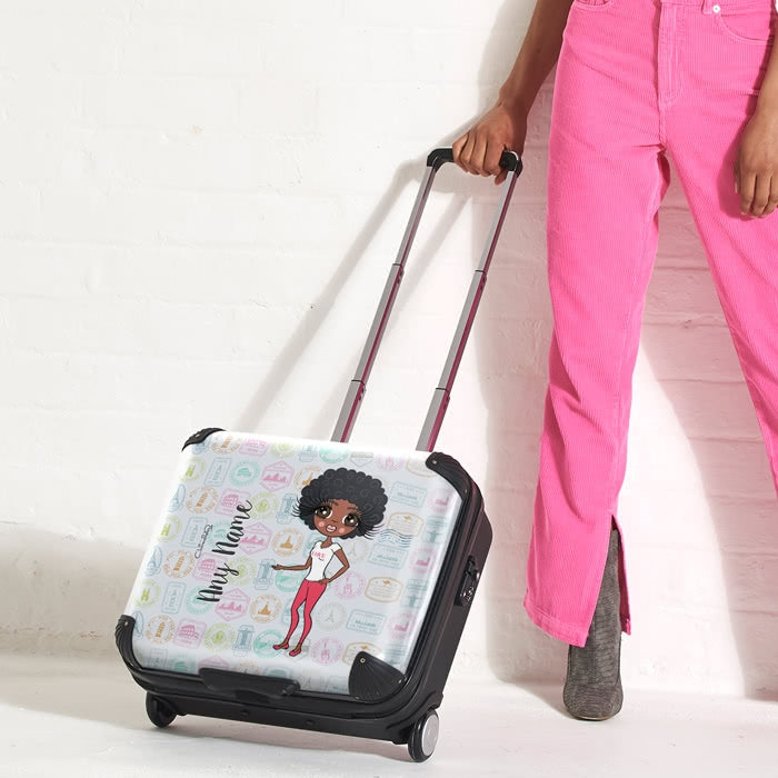 ClaireaBella Travel Stamp Weekend Suitcase - Image 3