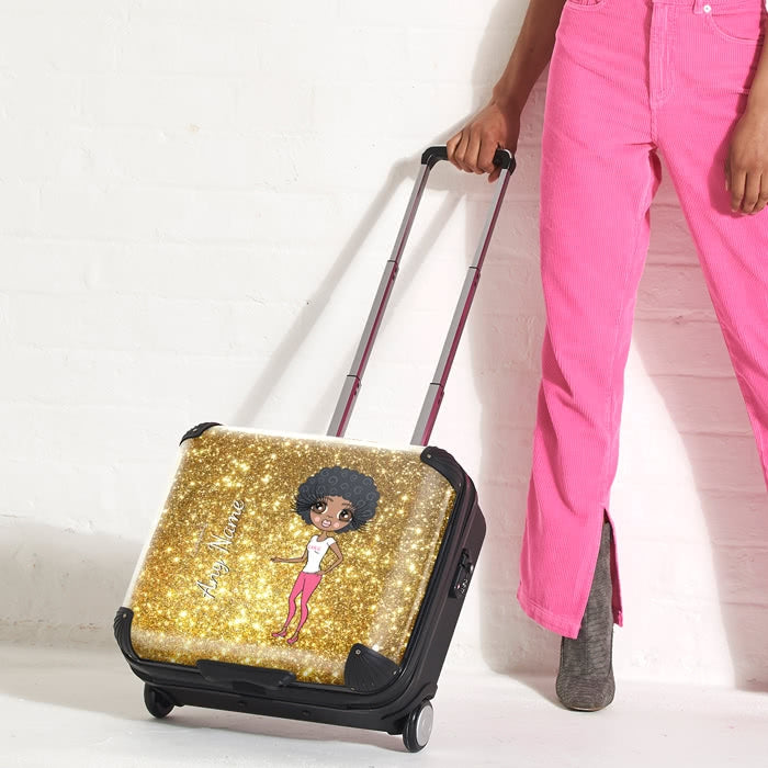 ClaireaBella Glitter Effect Weekend Suitcase - Image 4