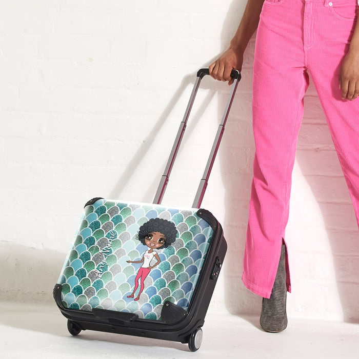 ClaireaBella Mermaid Glitter Effect Weekend Suitcase - Image 2