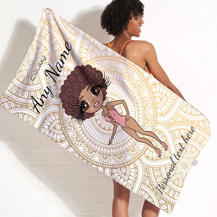 ClaireaBella Golden Lace Beach Towel - Image 5