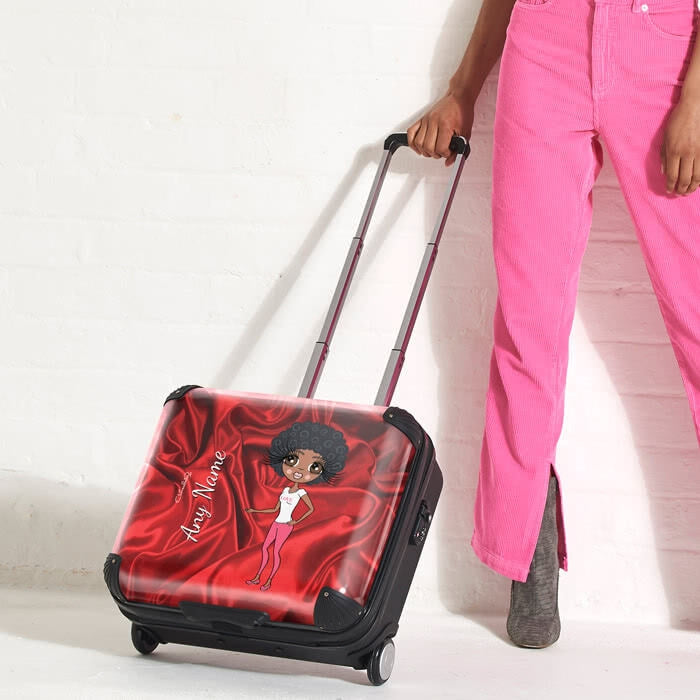 ClaireaBella Silky Satin Effect Weekend Suitcase - Image 3