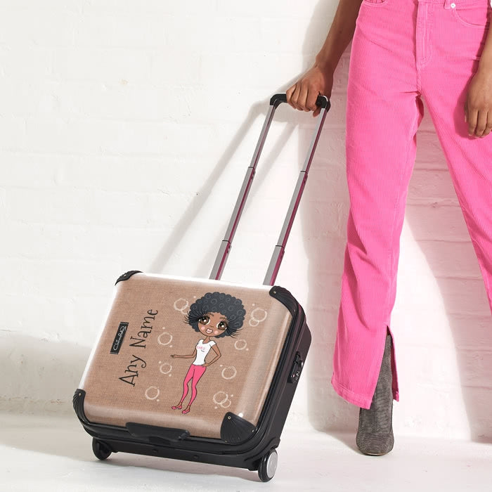 ClaireaBella Jute Print Weekend Suitcase - Image 8