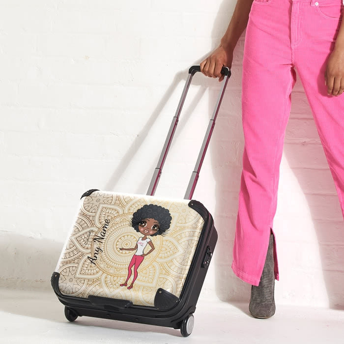 ClaireaBella Golden Lace Weekend Suitcase - Image 4