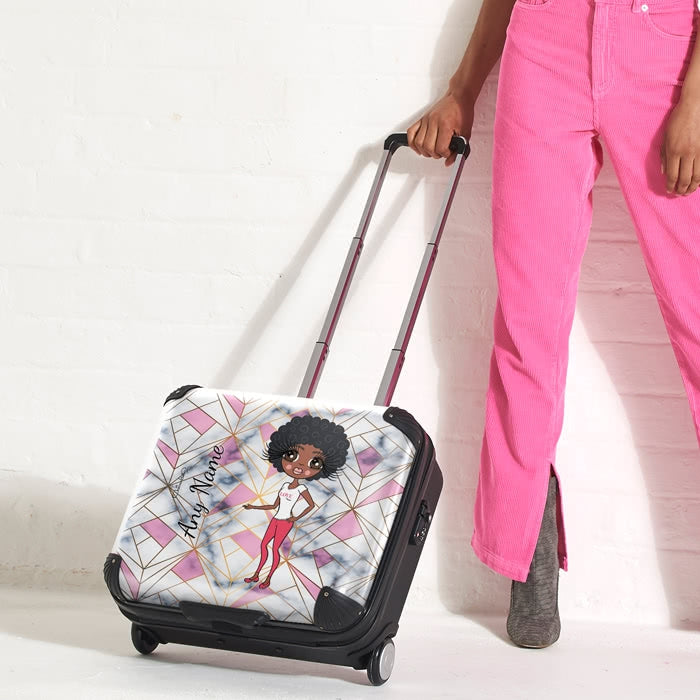 ClaireaBella Geo Print Weekend Suitcase - Image 5