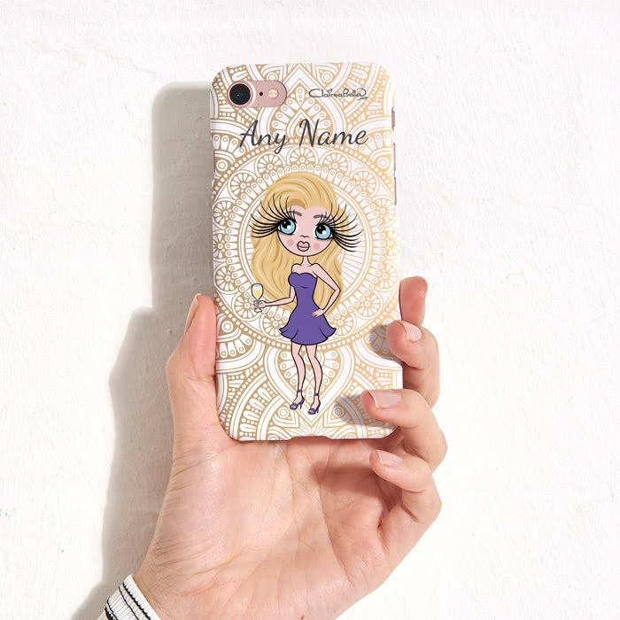 ClaireaBella Personalised Golden Lace Phone Case - Image 7