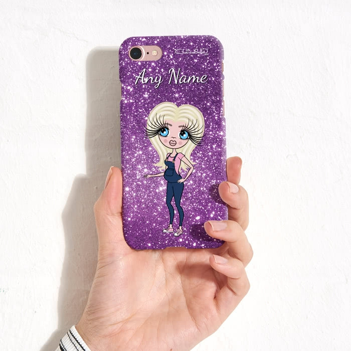 ClaireaBella Mum To Be Glitter Effect Phone Case - Image 2