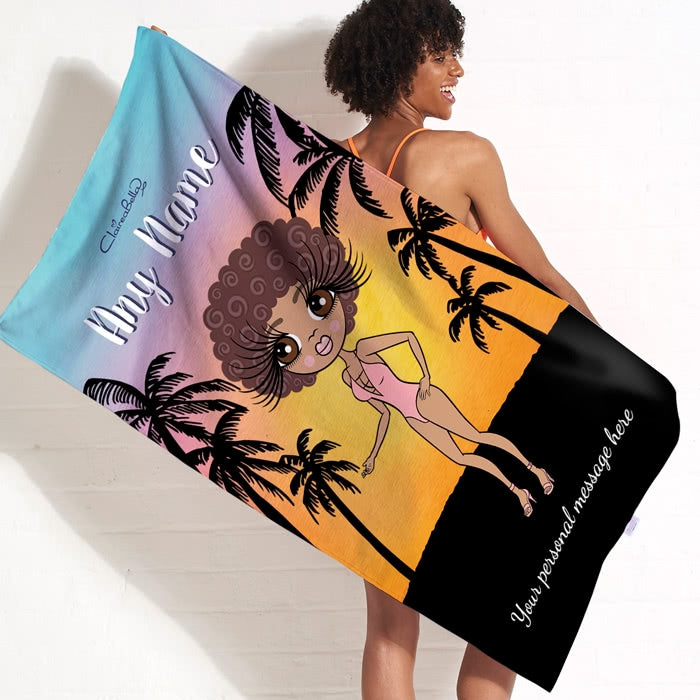 ClaireaBella Tropical Sunset Beach Towel - Image 1