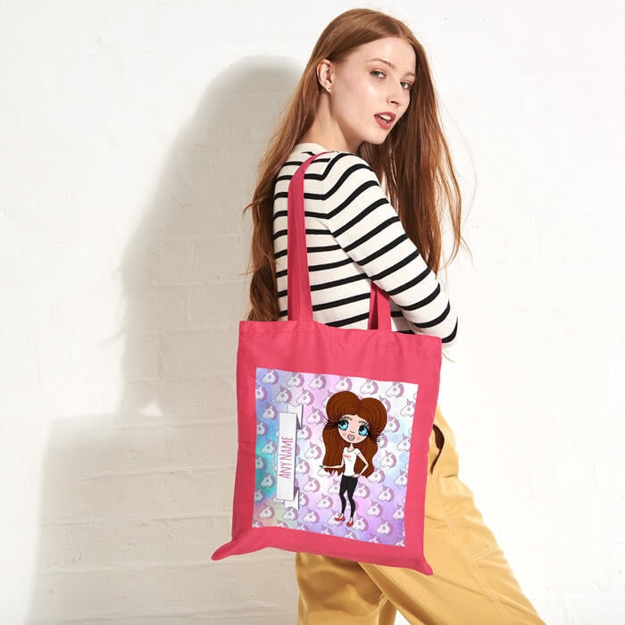 ClaireaBella Unicorn Emoji Colour Pop Canvas Bag - Image 1