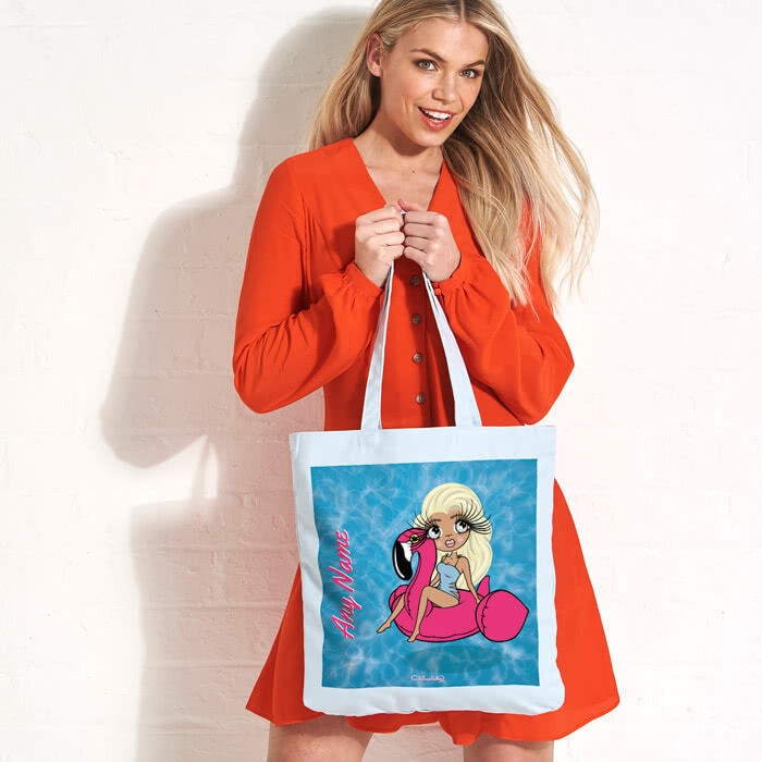 ClaireaBella Pool Side Pastel Canvas Shopper - Image 3