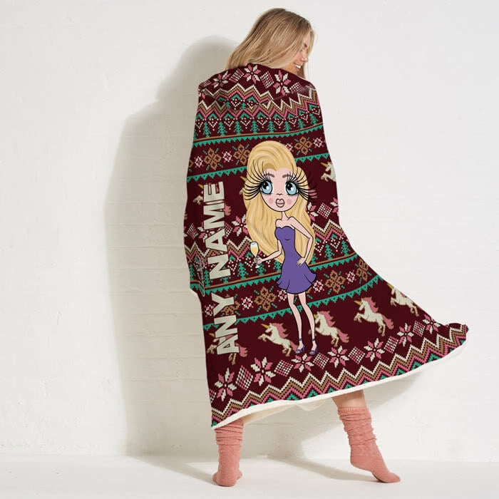 ClaireaBella Christmas Jumper Hooded Blanket - Image 4