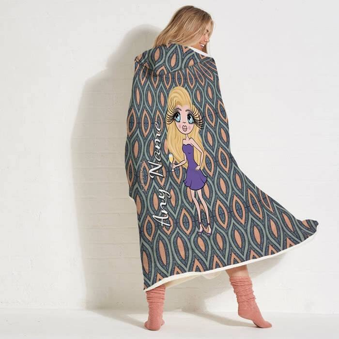 ClaireaBella Peacock Pattern Hooded Blanket - Image 5