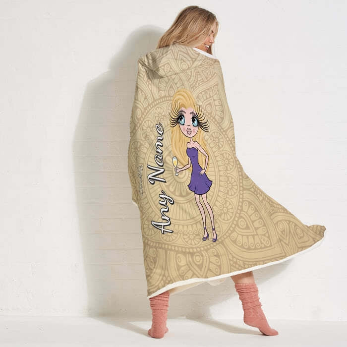 ClaireaBella Lace Print Hooded Blanket - Image 5