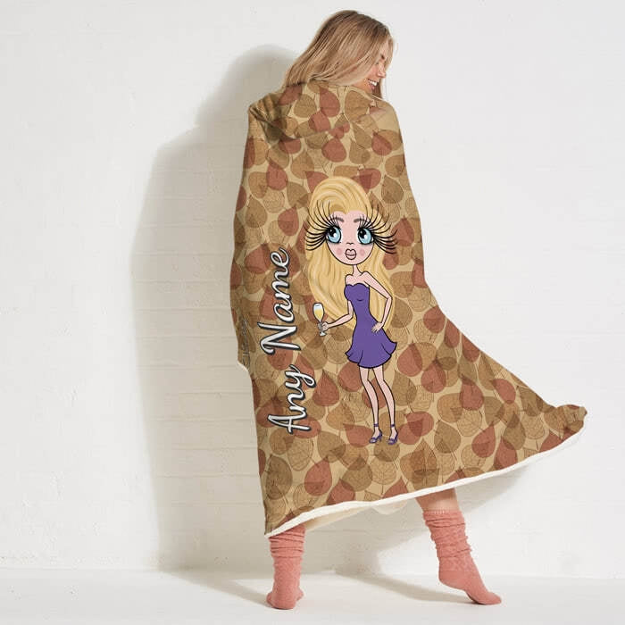 ClaireaBella Autumn Leaves Hooded Blanket - Image 3