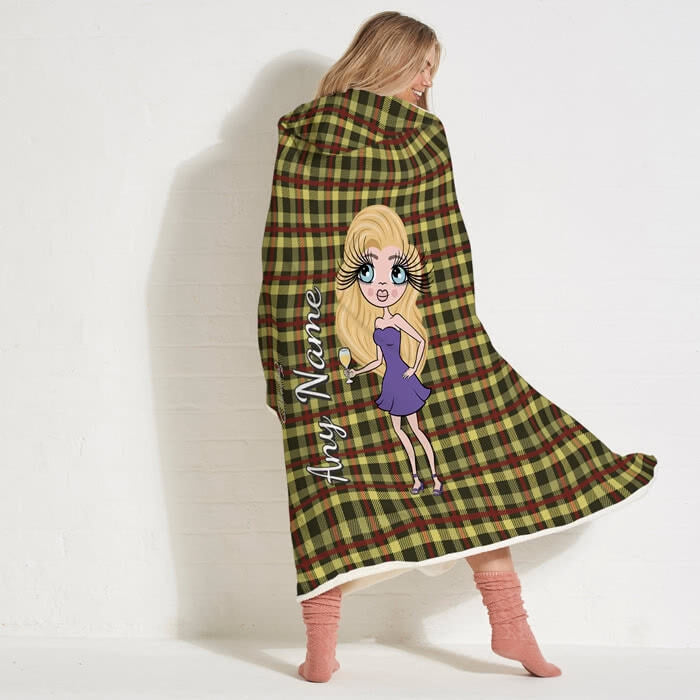 ClaireaBella Tartan Hooded Blanket - Image 7