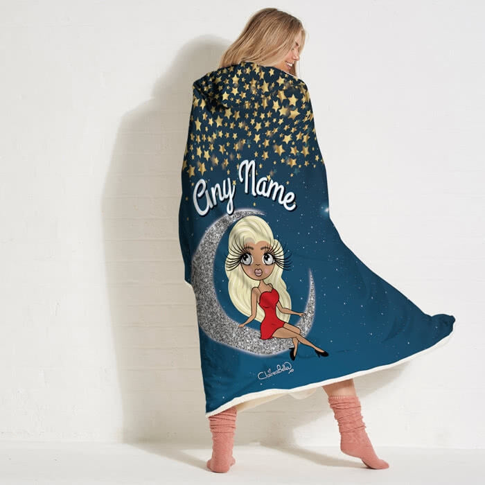 ClaireaBella Love You To The Moon Hooded Blanket - Image 1