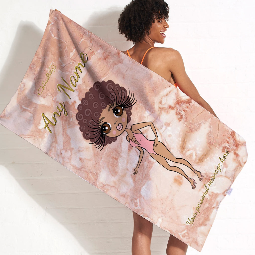 ClaireaBella Marble Effect Beach Towel - Image 3