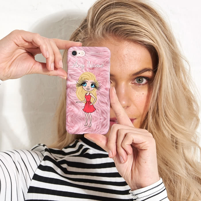 ClaireaBella Personalised Fur Effect Phone Case - Image 2