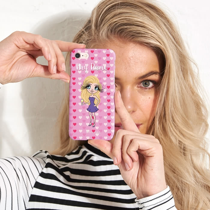 ClaireaBella Personalised Hearts Phone Case - Image 2