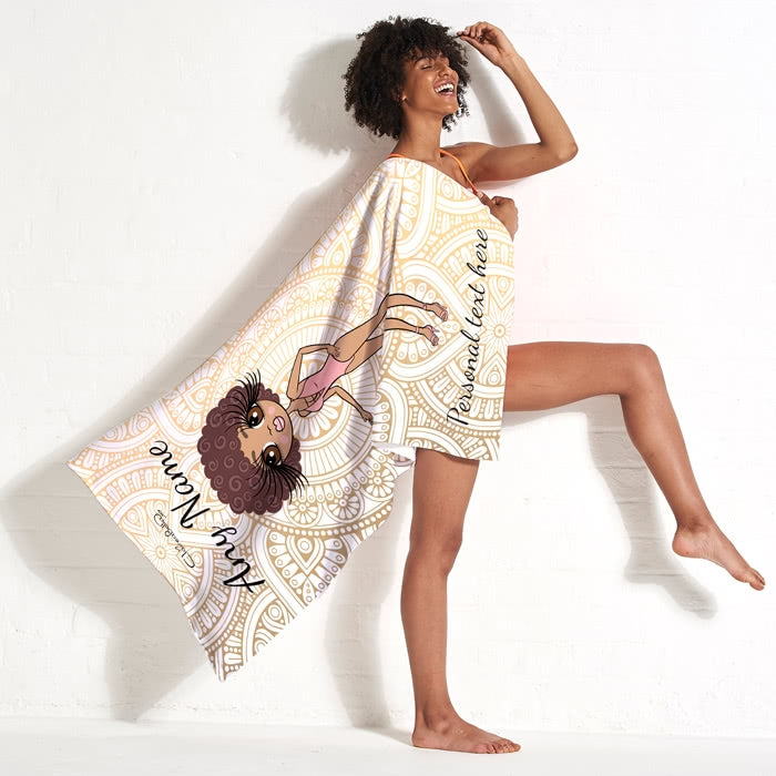 ClaireaBella Golden Lace Beach Towel - Image 3