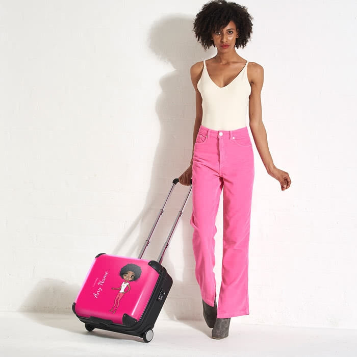ClaireaBella Hot Pink Weekend Suitcase - Image 1