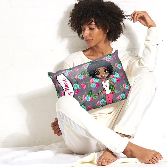 ClaireaBella Placement Cushion - Grey Floral - Image 2