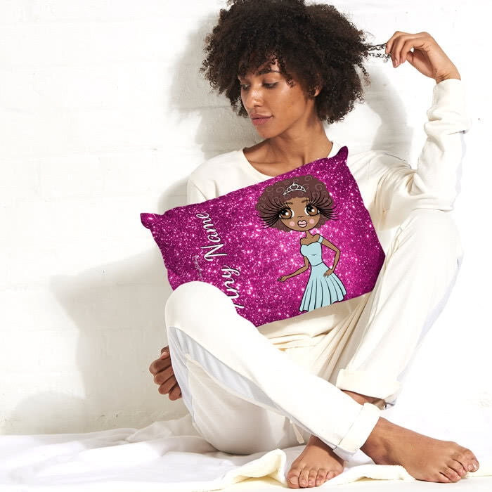 ClaireaBella Placement Cushion - Glitter Print Effect - Image 1
