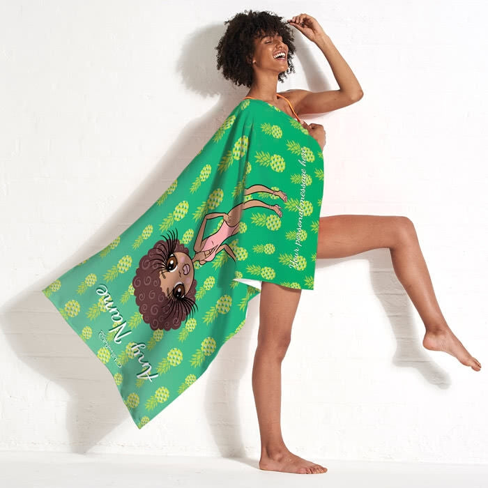 ClaireaBella Pineapple Beach Towel - Image 3