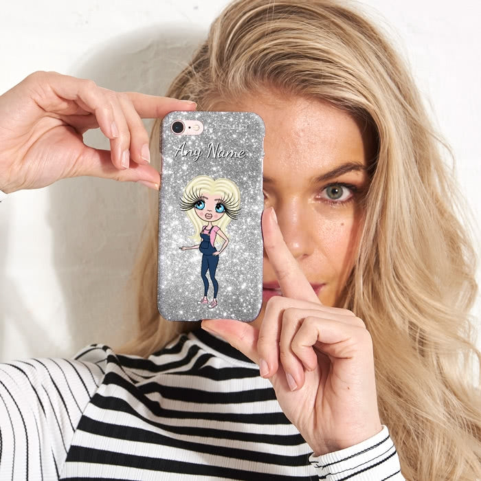ClaireaBella Mum To Be Glitter Effect Phone Case - Image 3