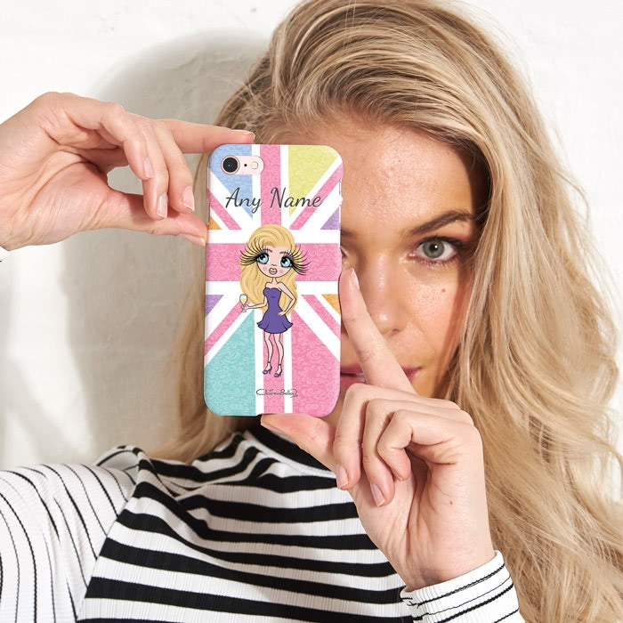 ClaireaBella Personalised Union Jack Phone Case - Image 2