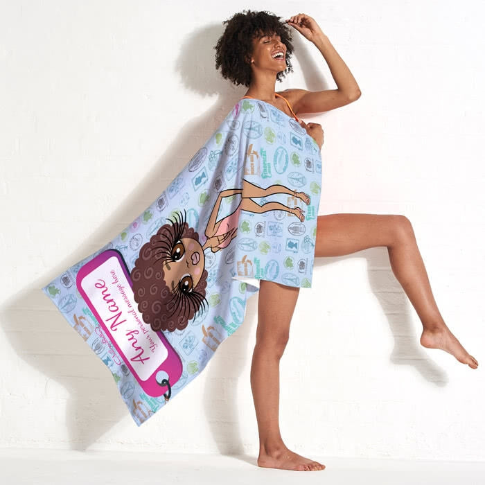ClaireaBella Travel Stamp Beach Towel - Image 2