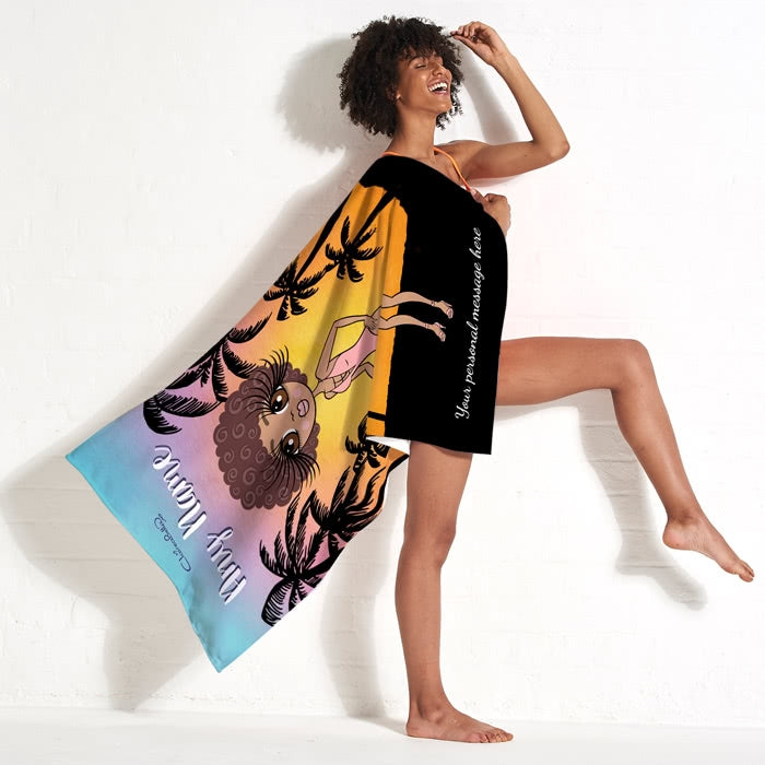 ClaireaBella Tropical Sunset Beach Towel - Image 4