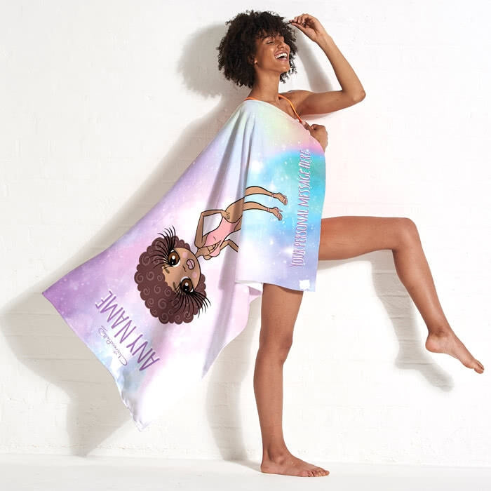 ClaireaBella Unicorn Colours Beach Towel - Image 3
