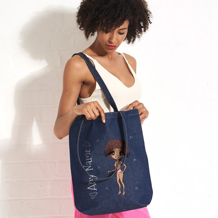 ClaireaBella Bikini Denim Canvas Bag - Image 3