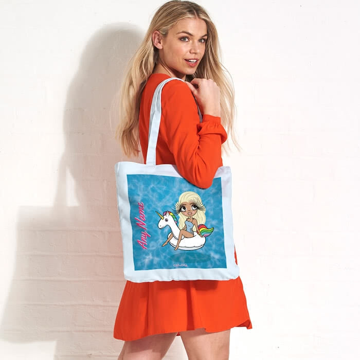 ClaireaBella Pool Side Pastel Canvas Shopper - Image 1