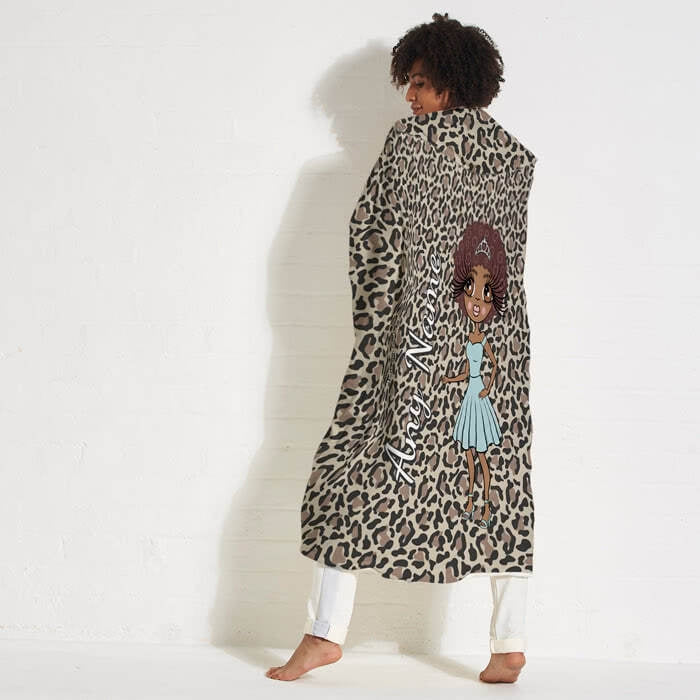 ClaireaBella Leopard Print Hooded Blanket - Image 3